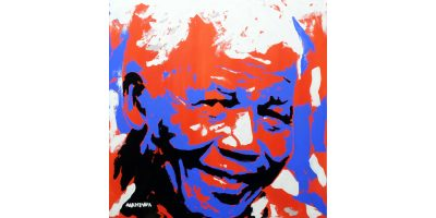 Mandela portrait by Makiwa Mutomba