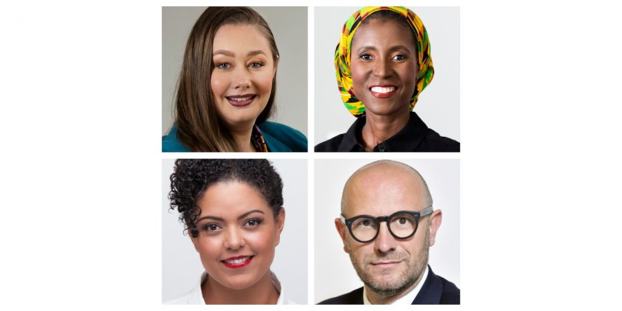(L to R clockwise) Madeleine Lambert, Johanna Mavhungu, Professor Andrea Rurale and Lee-Ann van Rooi.