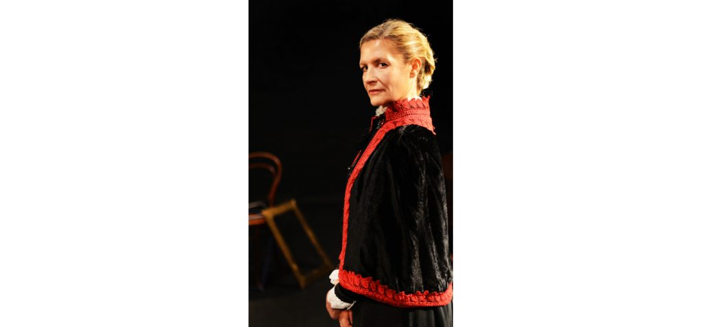 Lynita Crofford in An Audience With Miss Hobhouse which runs 5 and 6 June at The Drama Factory.