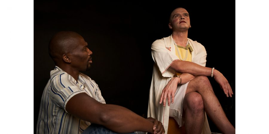 Mbulelo Grootboom and Wessel Pretorius in Kiss of the Spider Woman. Pic by Oscar O'Ryan.