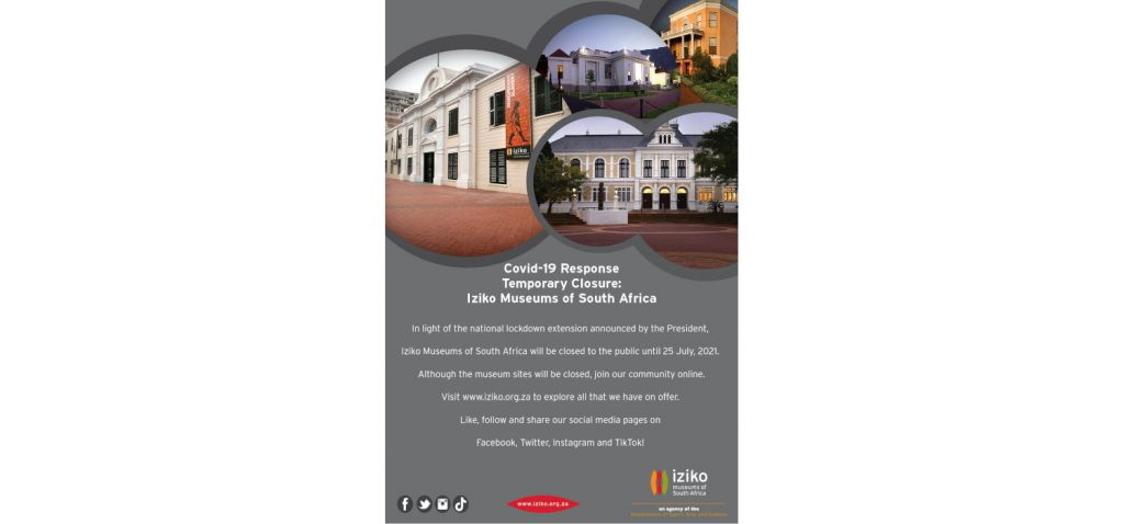 Iziko Museums remain temporarily closed