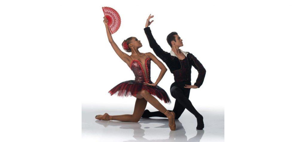 Monike Cristina and Ivan Domiciano - DON QUIXOTE PAS DE DEUX - Solo Flight - Joburg Ballet 2021. Photo: Lauge Sorensen.