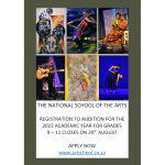 National School of the Arts auditions for 2022