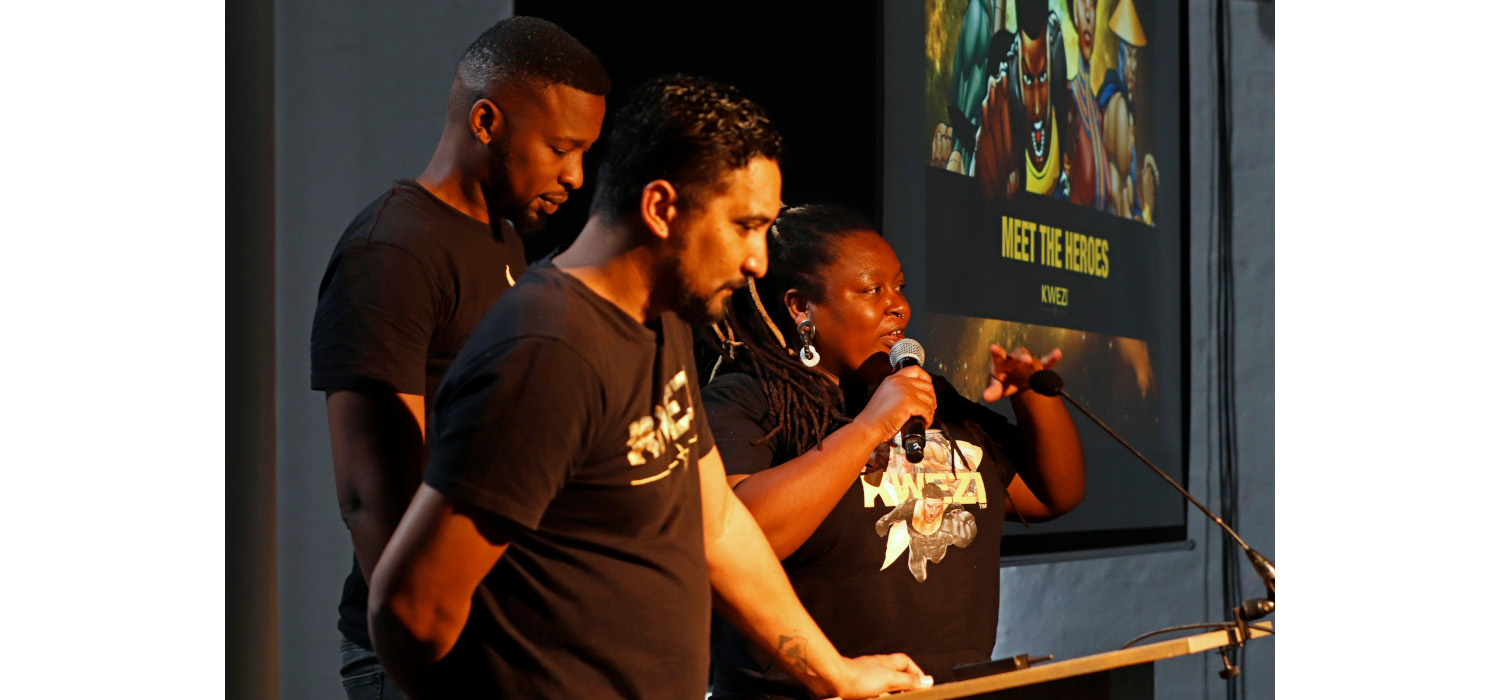Members of the Kwezi team took part at CTIAF: l-r: Clyde Beech, Loyiso Mkize and Mohale Mashigo. Photo: Mark Wessels.